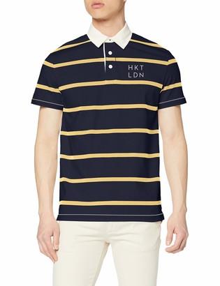 HKT by Hackett Men's Hkt Str Ss Rugby Polo Shirt