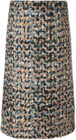 Maison Margiela bouclé knit a-line skirt - women - Polyamide/Viscose/Virgin Wool - 40