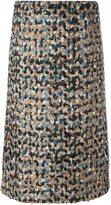 Maison Margiela bouclé knit a-line skirt