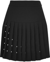 McQ by Alexander McQueen Studded crepe mini skirt