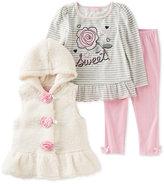 Kids Headquarters 3-Pc. Faux-Fur Vest, Top & Leggings Set, Baby Girls (0-24 months)