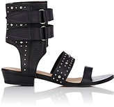 IRO Women's Studded Xilca Ankle-Cuff Sandals-Black Size 8