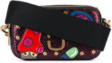 Marc Jacobs embellished patch crossbody bag - women - Calf Leather - One Size