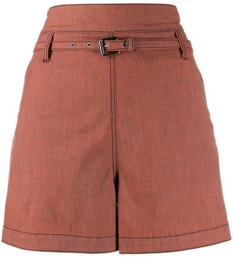 Marni Belted Flared Shorts