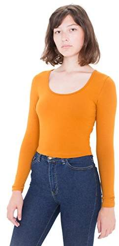 American Apparel Women's Reed Long Sleeve Crop Top