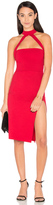 Donna Mizani Cut Out Strapped Mock Midi Dress