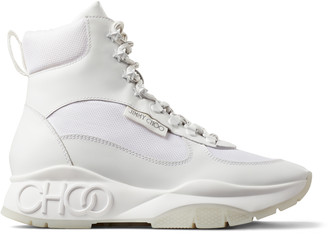 Jimmy Choo INCA/F White Soft Leather and technical mesh trainers