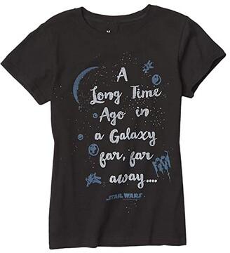 Junk Food Kids Star Wars Galaxy T-Shirt (Little Kids/Big Kids) (Black) Girl's Clothing