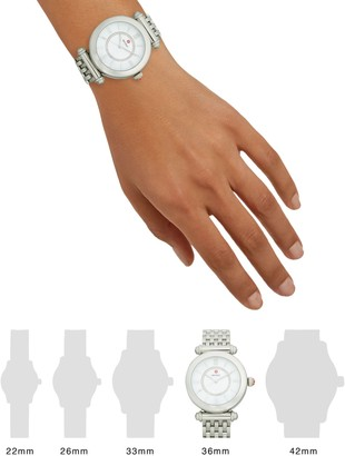 Michele Stainless Steel & Diamond Bracelet Watch