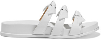 Alexandre Birman Lolita Knotted Leather Slides