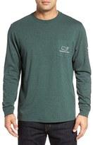 Vineyard Vines Men's 'Vintage Whale' Long Sleeve Pocket T-Shirt