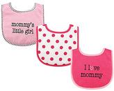 Luvable Friends Pink 'Mommy's Little Girl' Drooler Bib Set