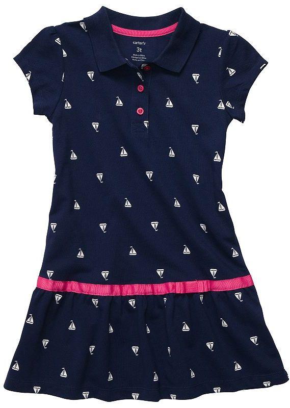 Carter's sailboat polo dress - toddler