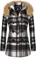 ACEVOG Womens Parkas Coats Faux Fur Lined Overcoats Jackets Outwear