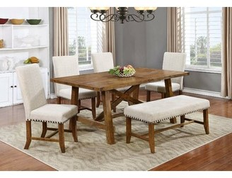 Corson Solid Wood Dining Table Gracie Oaks