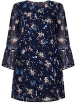Yumi Dragonfly Printed Tunic Dress