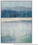 United Artworks Cold Forest Canvas Painting With Floating Frame