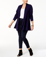 NY Collection Plus Size Open-Front Swing Cardigan