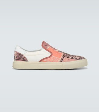 Amiri Bandana Reconstructed slip-on shoes