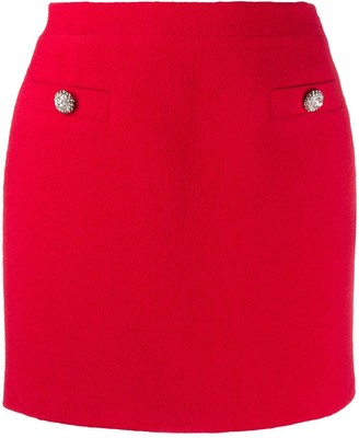 Alessandra Rich Tweed Mini Skirt