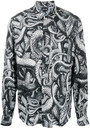 Just Cavalli Snake-Print Long-Sleeved Shirt