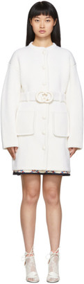 Gucci White Belted Cardigan