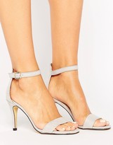 Oasis Suedette Barely There Heeled Sandal