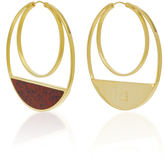 Monica Sordo Callao Maxi Loops 21K Gold-Plated Earrings