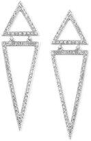Effy Geo by Diamond Triangle Drop Earrings (5/8 ct. t.w.) in 14k White Gold