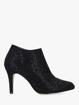 Carvela Serene Stiletto Heel Embellished Ankle Boots, Black