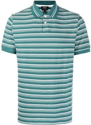 A.P.C. Esteban striped polo shirt