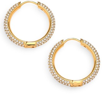 Adriana Orsini Pave Hoop Earrings/0.8""