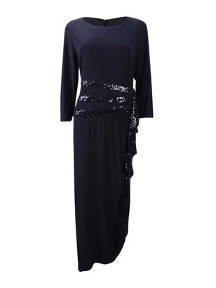 R & M Richards R&M Richards Women's Long and Classic Sequins Cascade Dress