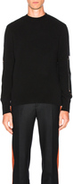 Givenchy Wool & Leather Patches Sweater
