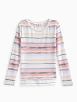 Splendid Girl Chalk Stripe Loose Knit Sweater