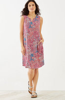 J. Jill Floral Pintucked Button-Front Dress
