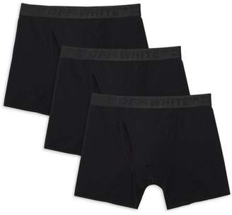 Off-White Off White 3-Pack Stretch Cotton Boxer Shorts