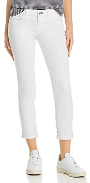 Rag & Bone Dre Low-Rise Slim Boyfriend Jeans in White
