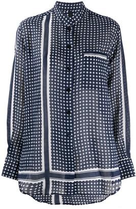 Sara Lanzi Geometric-Print Long-Sleeved Shirt