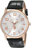 U.S. Polo Assn. Classic Men's USC50075 Black Strap with Rosegold-Tone Case Watch