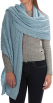 Portolano Cable-Knit Cashmere Wrap (For Women)