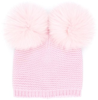 Siola Double Pompom Hat