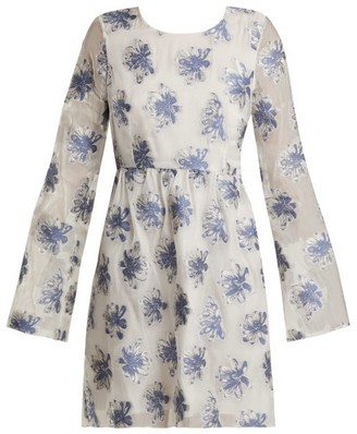 Athena Procopiou - In The Hills Floral Fil-coupe Organza Dress - Womens - White Multi