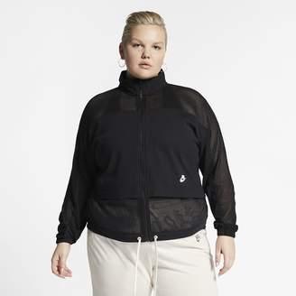 Nike Women's Mesh Jacket (Plus Size Sportswear