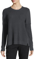 Go Silk Thermal-Stitched Silk-Back Sweater