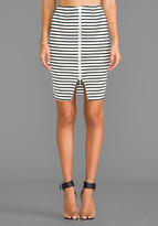 NICHOLAS Breton Stripe Pencil Skirt