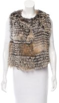 Oscar de la Renta Fur V-Neck Vest w/ Tags