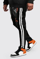boohoo Mens Black Big And Tall MAN Official Skinny Denim Jeans, Black