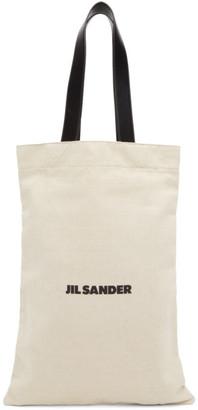 Jil Sander Beige Grande Flat Shopper Tote