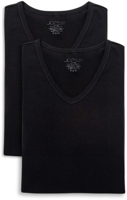 Joe's Jeans Stretch Modern Fit V-Neck T-Shirt - Pack of 2